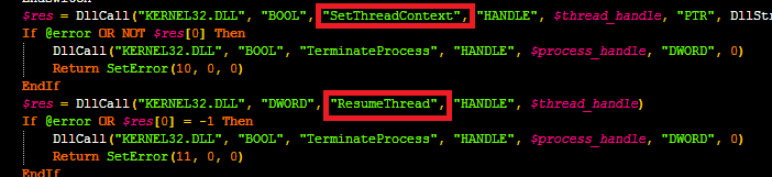 SetThreadContext